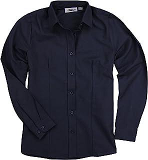 女式基本款长袖系扣牛津工装衬衫