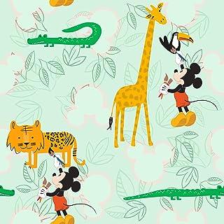 Komar 迪士尼无纺布壁纸 - 米奇涂鸦动物园 - 1卷 - 尺寸:10.05 x 0.53米 - 儿童房,米老鼠