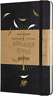 Moleskine 哈利波特限定版笔记本(Wingardium Leviosa主题硬面横间笔记本 尺寸13 x 21 cm)24页 黑色