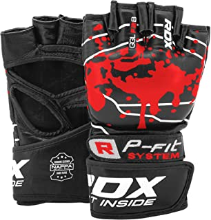 RDX MMA 手套格斗武术拳击打拳击袋笼斗牛皮手套 UFC 战斗训练