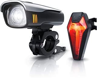 CSL - LED 电池自行车照明套装 StVZO - 自行车灯套装 - 前灯和尾灯