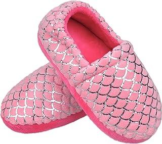 MIXIN 女童毛绒保暖家居拖鞋