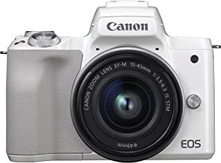 Canon佳能 EOS M50 白色2681C012  EF-M 15-45 Kit 白色