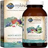 Garden of Life mykind 全食物复合维生素,40岁以上 120 片,素食男士复合维生素,全食物维生素及…