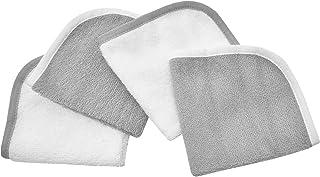 American Baby Company 棉绒布 4 件套毛巾套装 灰色