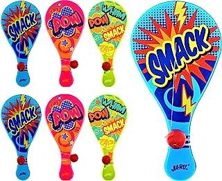 JA-RU 带绳球(6 个装)| 真正品质桨球经典游戏。加上 1 个可收集的弹力球 | 商品编号 #1994-6p