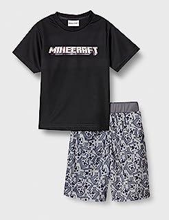 MAINCraft 睡衣套装 Minecraft 儿童 家居服 F2131Y 黑色 160厘米