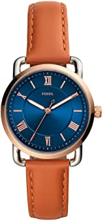 Fossil 女士谷轮三针石英皮革手表,型号:ES4824