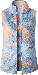 女式休闲夏尔巴羊毛轻质毛绒秋季保暖拉链背心带口袋