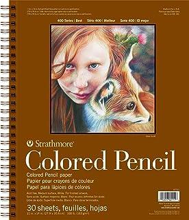 "Pro-Art 30 Sheets Strathmore 彩色铅笔螺旋纹画本,11""x14"""
