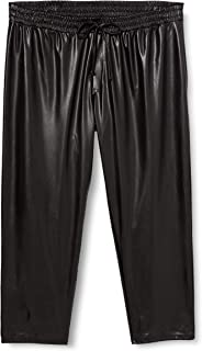Dorothy Perkins Curve 女士曲线黑色 PU 裤休闲裤