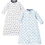 Hudson Baby 婴儿长袖棉质保险柜可穿戴睡袋,2件装