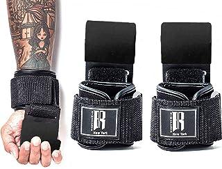 RIMSports 举重挂钩重型举重腕带适用于拉起举重带适用于举重举重的举重带带衬垫锻炼带适用于举重健身手套男女皆宜