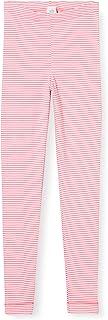 Sanetta 女童 Camellia 玫瑰舒适细罗纹打底裤,长款内衣,粉色条纹外观