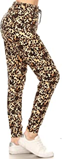 Leggings Depot 优质慢跑者女士流行印花高腰运动瑜伽裤(S-XL)