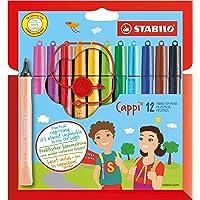 STABILO Cappi 系列毡笔,12 件装 - 12 种不同颜色