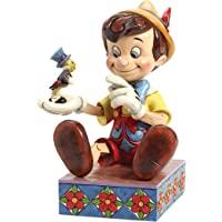 Department 56 Disney 传统 Jim Shore Pinocchio 75 周年小雕像,7 英寸