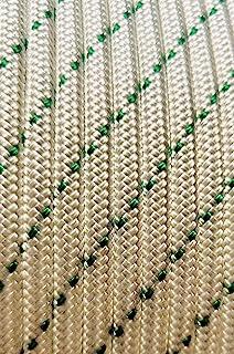 MarineNow 10 毫米(3/8 英寸)双编织涤纶罩低弹力帆船绳选择颜色/长度