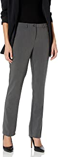 Tribal 女式 Petite Flatten It 舒适腰柔软斜纹直筒裤