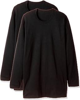 (郡是) GUNZE 贴身内衣 保湿加工 圆领长袖 2件装
