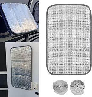 UTSAUTO RV 窗帘反光门窗罩 40.64 厘米 x 63.5 厘米拖车双面窗遮阳帘带 4.1 米安装工具,防紫外线和热 适用于房车拖车露营车窗遮阳罩