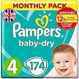 Pampers 帮宝适 Baby Dry 尿布,纸尿裤 Windeln Gr. 4 174