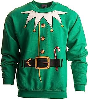 Santa's Elf Costume √ 新奇圣诞毛衣,节日圆领运动衫