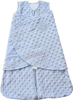 HALO SleepSack 长绒毛圆点安全睡袋 蓝色 新生儿