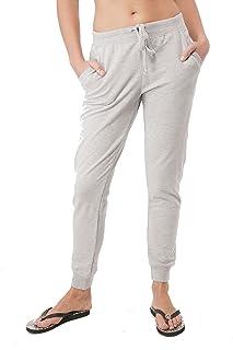 Hollywood Star 时尚女士抽绳法国厚绒布慢跑裤带前口袋休闲动作