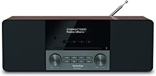 TechniSat DIGITRADIO 3 - 立体声 DAB 收音机紧凑型设备(DAB+,FM,CD 播放器,蓝牙,USB,耳机插孔,AUX 输入,收音机闹钟,OLED 显示屏,20瓦 RMS)核桃木