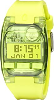 nixon 男式 a3362044 comp s 数字显示屏自动上风绿色手表