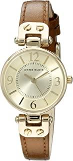 Anne Klein 女士皮质表带腕表