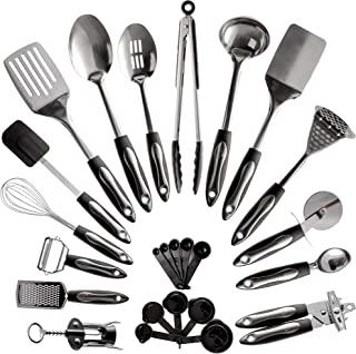 25 件不锈钢厨房用具套件   不粘烹饪小工具及工具套件   耐用洗碗机*厨具   厨房用品礼品创意,*佳新公寓必备品