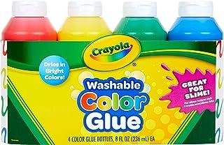 Crayola 69-8100 可洗彩色胶水 8 盎司-多色 4 包