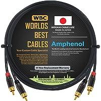 Worlds Best Cables - 152.4 厘米 - 高清音频互连电缆对使用 Mogami 2964 电线和安…