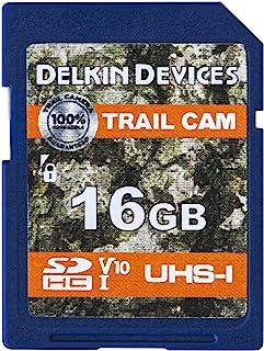 Delkin 16GB SD 卡数码 SD 卡媒体存储,适用于越野相机和游戏相机,适用于野外狩猎相机和越野相机