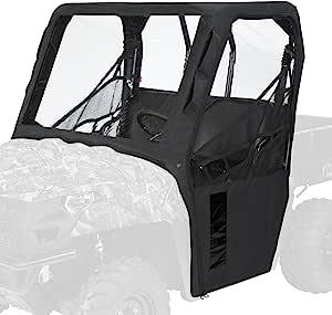 经典配件 18-156-010401-RT QuadGear 黑色 UTV 驾驶室外壳适用于 Polaris Ranger 400、570、800、2016 年