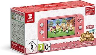 Nintendo 任天堂 Switch Lite(珊瑚)动物穿越新地平线+ NSO 3个月