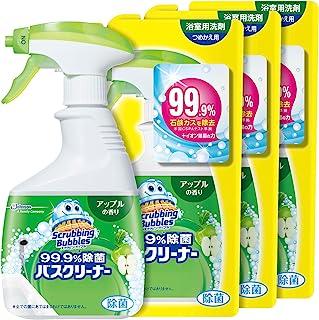 Scrubbing Bubbles 浴室、浴缸清洗剂 99.9% *浴缸清洁剂 苹果香味 1瓶+替换装3个套装 400毫升+350毫升×3个