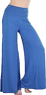 ToBeInStyle 女士涤纶人造丝氨纶混纺面料 Palazzo 长裤