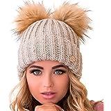Braxton 无檐小便帽 女式 - 2 毛耳针针织冬季保暖羊毛帽 - 羊毛雪地户外滑雪帽