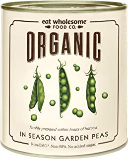 Eat Wholesome Organic In Season Garden Peas 340g (Pack of 12)
