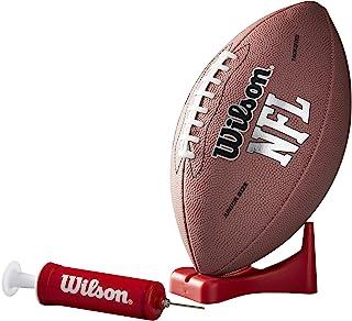 Wilson NFL MVP 青少年足球,带泵和 T 恤,棕色版