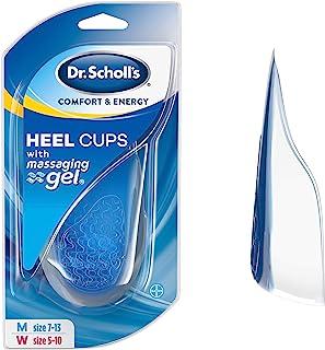 Dr. Scholl's 按摩凝胶脚跟杯,中号,1 双装 1份 1