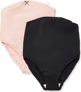 7308 玫瑰太太 亲肤 孕妇内裤 超值2条装 *棉 F粉色圆点+黑色 纯色 マタニティL-LL