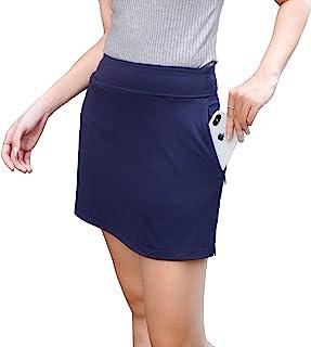 RAD Ryandrew 女式运动短裙轻质运动裙带短裤跑步网球高尔夫锻炼运动匹克球。 *蓝拉链口袋 X-Large