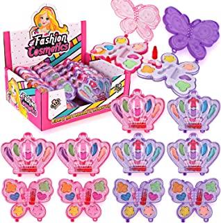 Liberty Imports 小女孩化妆品玩具套装   可水洗*   公主真妆套装 带盒   送给孩子的理想礼物 12 Pack Favors 粉红色