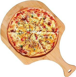 竹木比萨皮木皮披萨铲桨披萨切菜板带手柄适用于自制披萨烘焙面包