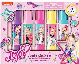 JoJo Siwa Nickelodeon 粉笔套装彩色大号女孩 Sidwalk 粉笔