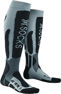 X-Socks Ski 金属中性功能袜 - 金属/炭黑色